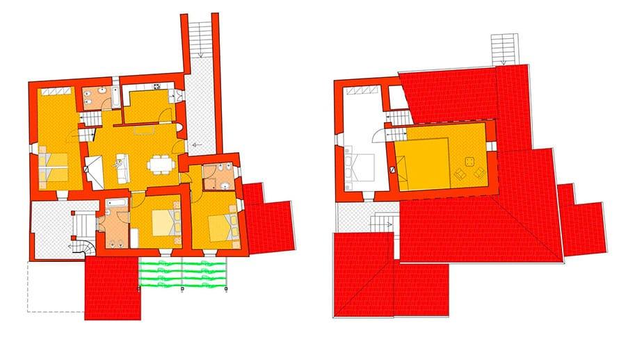 Casa rosa 2 planimetria